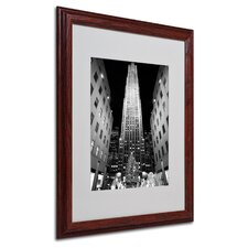 """Rockefeller Night"" Matted Framed Art"