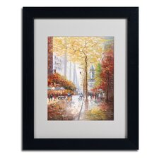 """French Street Scene II"" Framed Art"