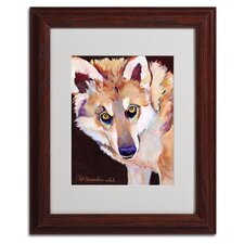 """Night Eyes"" Matted Framed Art"