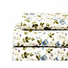 Spring Bloom Flannel Sheet Set