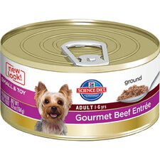 Small and Toy Adult Gourmet Beef Entrée Wet Dog Food (5.8-oz)