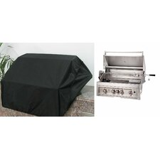 "34"" Weather-Proof Grill Cover for 4 Burner Grill"