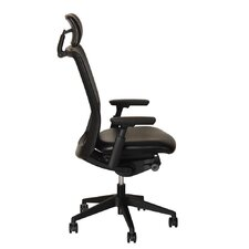 Contoured High-Back Office Chair with Adjustable Seat