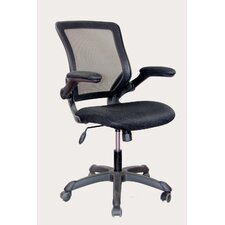 Mid-Back Mesh Task Chair with Flip-Up Arms