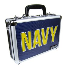 Premium Navy Design Single/Double Pistol Case