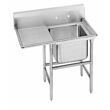 "940 Series Seamless Bowl 58"" x 27"" 1 Compartment Scullery Sink"