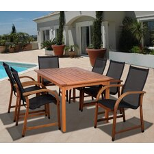 Amazonia Jersey 7 Piece Dining Set