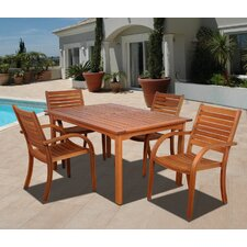 Amazonia Maryland 5 Piece Dining Set