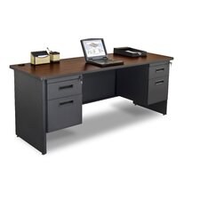 Pronto Double Pedestal Locks with 2 Keys Computer Desk