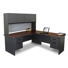 Pronto Computer Desk with Return and Pedestal