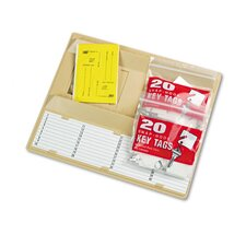 40-Key File Drawer Key Rack