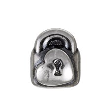 Signature Moments Sterling Silver Heart Padlock Bead