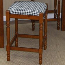 Hawthorne Stool with Distressed Walnut Frame