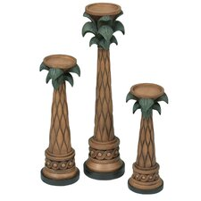 Palm Tree Resin Candle Holder (Set of 3)