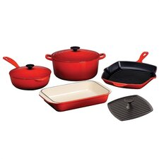 Enameled Cast Iron 7-Piece Cookware Set