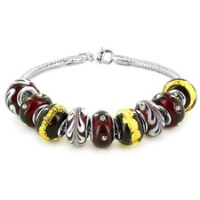 Hand Blown Glass Beaded Bracelet