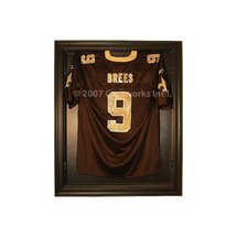 Full Size Removable Face Jersey Display in Brown