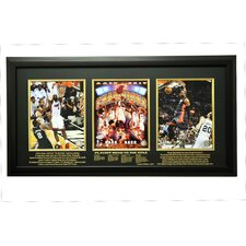 NBA 2012-2013 Miami Heat Champions Limited Edition Triple Frame