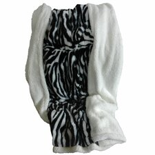 Zebra Polyester Fleece Throw Blanket