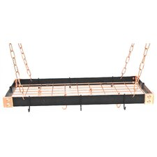 Gourmet Custom Contrasting Hanging Pot Rack