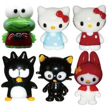 Hello Kitty 1, Hello Kitty 2, BadtzMaru, Chococat, Keroppi and My Melody Figurine