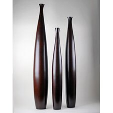 Wood Tall Vase (Set of 3)