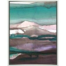 Modern Living Colorful Ink Wash 4B Framed Wall Art