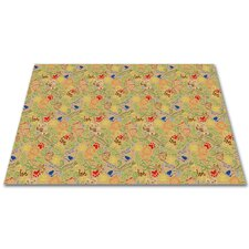 Animal Doodles Multicolor on Tan Kids Rug