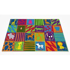 Bilingual Animals School Kids Rug