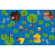 Huff and Puff Nursery Kids Rug