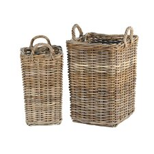 French Bottle Basket (Set of 2)