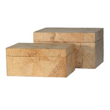 Coconut Wood Box (Set of 2)
