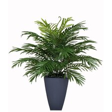 Artificial Parlor Fern in Zinc Planter