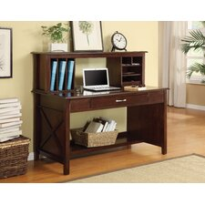 Adeline Desk with Hutch with Lower Storage Shelf