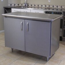 Professional Chef Kitchen Island with Stainless Steel Top