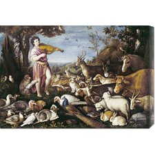 'Orpheus Charming The Animals' by Leandro Da Ponte Stretched Canvas Art