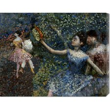'Dancer With a Tambourine' by Edgar Degas Stretched Canvas Art