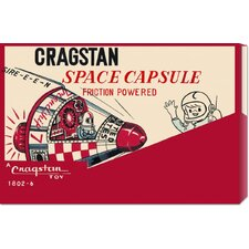 'Cragstan Space Capsule' by Retrobot Stretched Canvas Art
