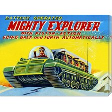 'Mighty Explorer with Piston Action' by Retrobot Stretched Canvas Art