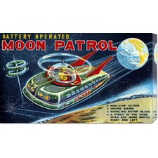 'Battery Operated Moon Patrol XT-978' by Retrobot Stretched Canvas Art