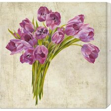 'Bouquet de Tulipes' by Leonardo Sanna Stretched Canvas Art