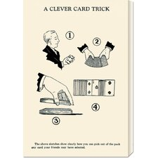 'A Cleaver Card Trick' by Retromagic Stretched Canvas Art