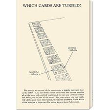 'Which Cards are Turned' by Retromagic Stretched Canvas Art