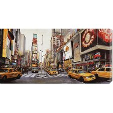 'Times Square Perspective' by John B. Mannarini Stretched Canvas Art