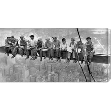'New York Construction Workers Lunching on a Crossbeam, 1932' by Charles C. Ebbets Stretched Canvas Art