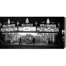 'All Night Cinema in Hollywood' by Kurt Hutton Stretched Canvas Art