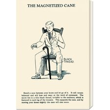 'The Magnetized Cane' by Retromagic Stretched Canvas Art