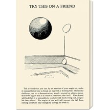 'Try This on a Friend - Bowling Ball versus Egg' by Retromagic Stretched Canvas Art