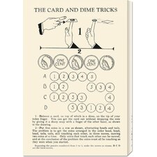 'The Card and Dime Tricks' by Retromagic Stretched Canvas Art