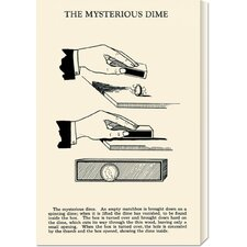 'The Mysterious Dime' by Retromagic Stretched Canvas Art